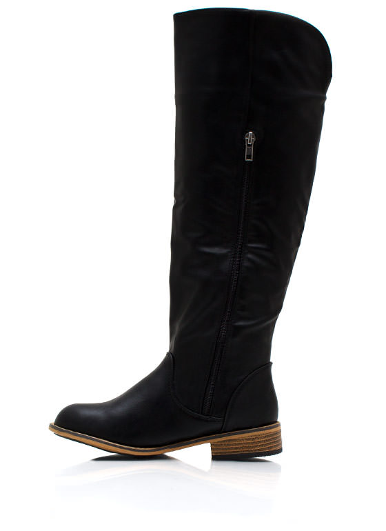 Buckle Down Riding Boots BLACK