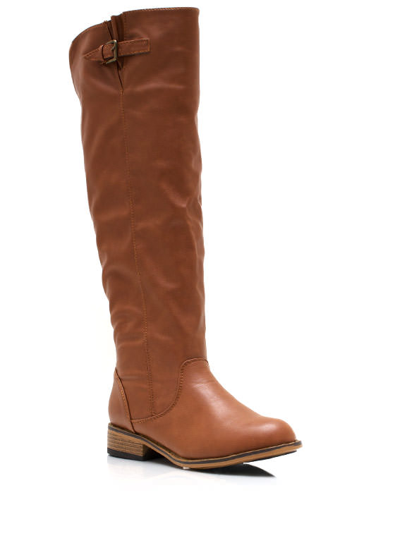Buckle Down Riding Boots CHESTNUT