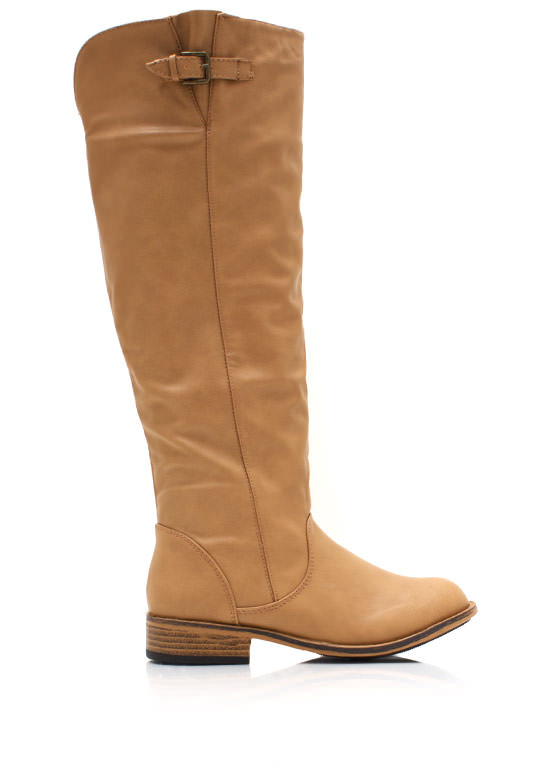 Buckle Down Riding Boots NATURAL