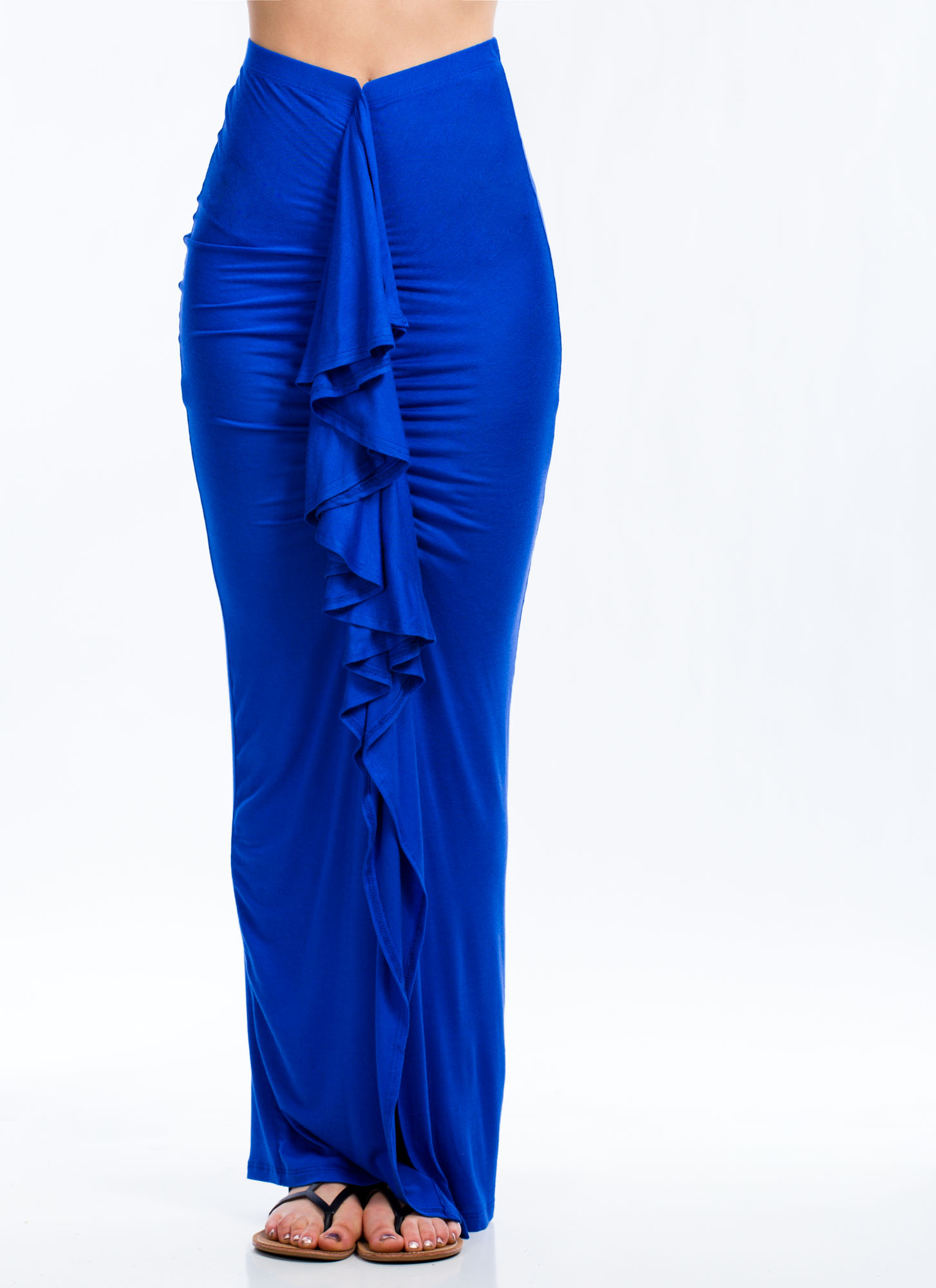 Ruffled Up Maxi Skirt ROYAL