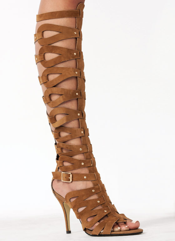 Be In The Loops Gladiator Heels CAMEL