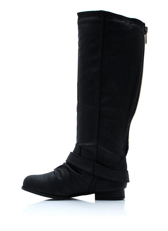 Stand Up Tall Zip Back Boots BLACK