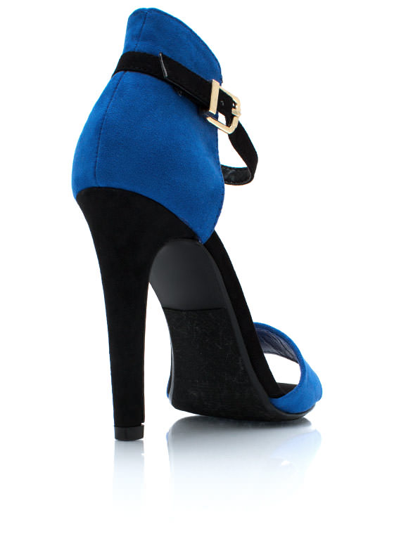 Double The Fun Heels BLUEBLACK