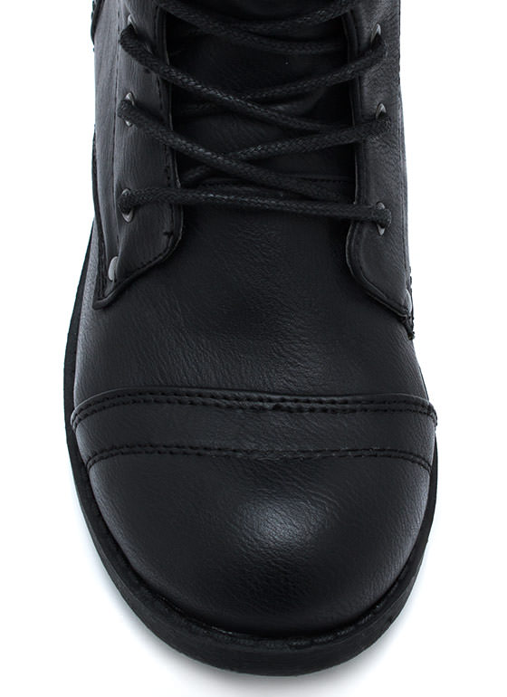 Zip It Combat Boots BLACK