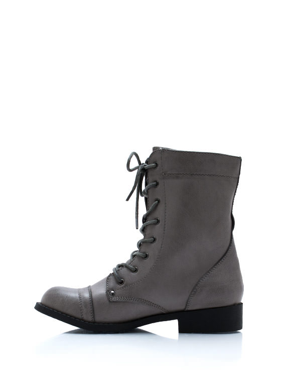 Zip It Combat Boots TAUPE