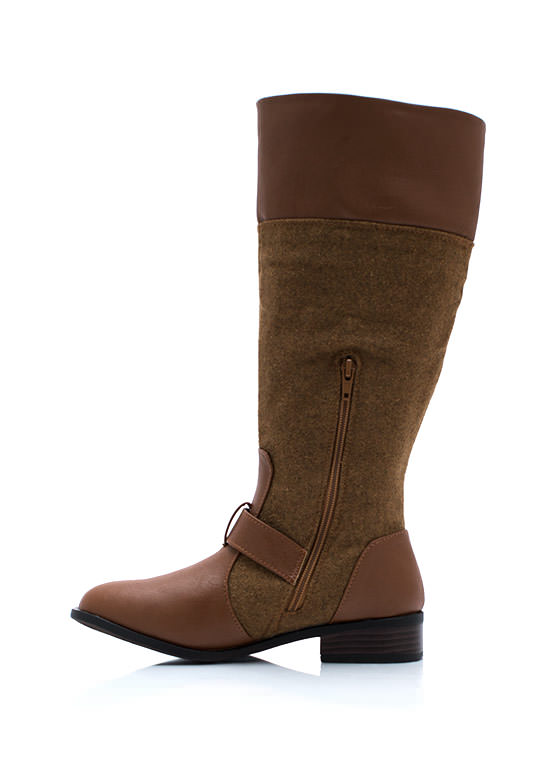 Total Softie Mixed Riding Boots CHESTNUT