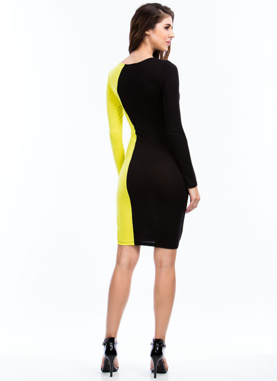 Curves Ahead Midi Dress CITRON