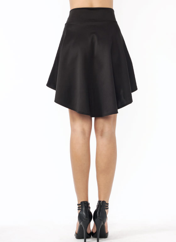 High Low Skater Girl Skirt BLACK
