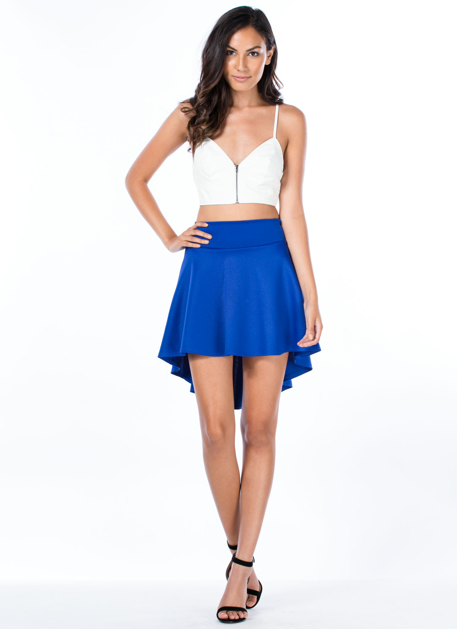 High Low Skater Girl Skirt ROYAL