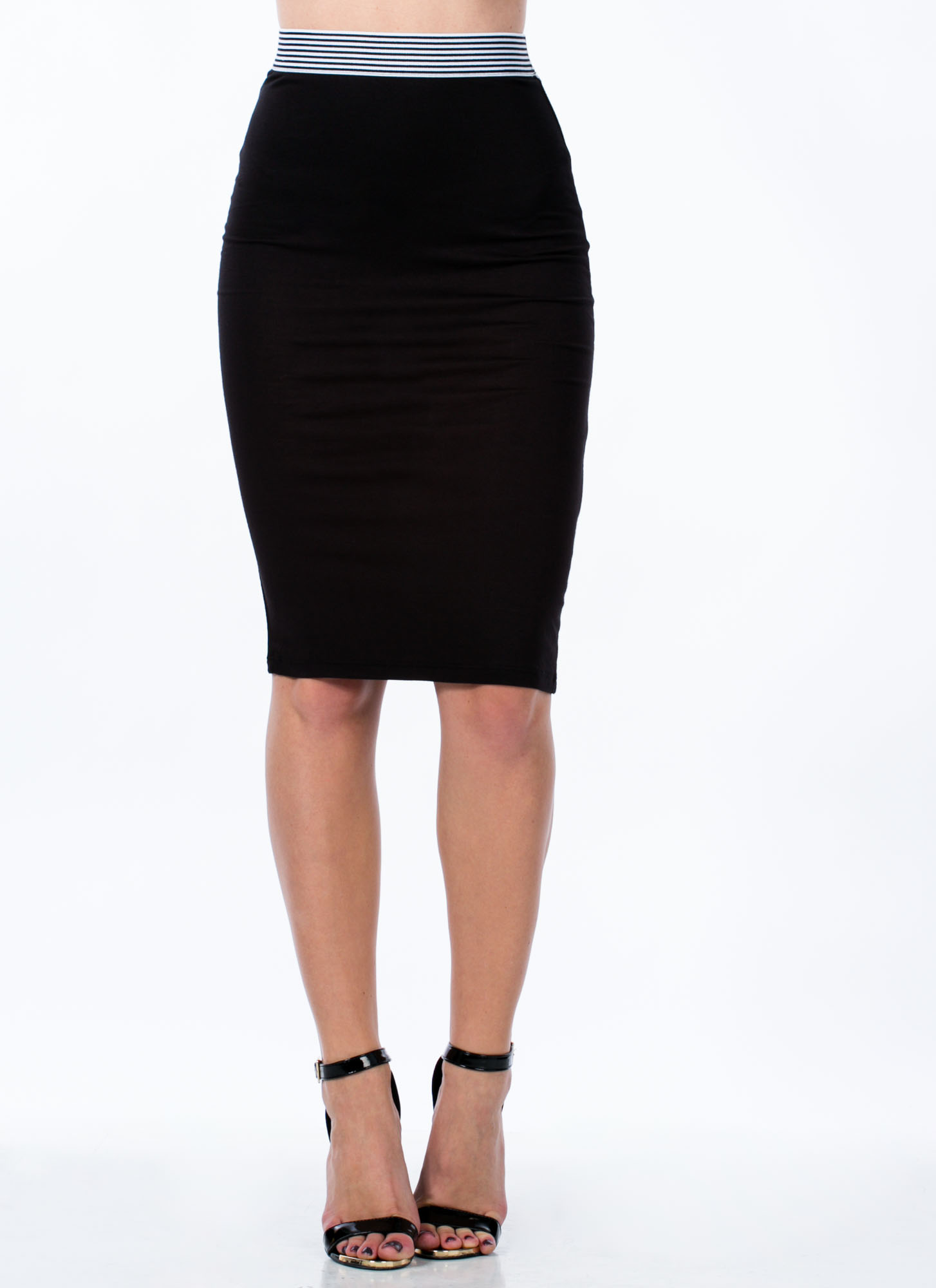 Not Just For Sport Pencil Skirt BLACK