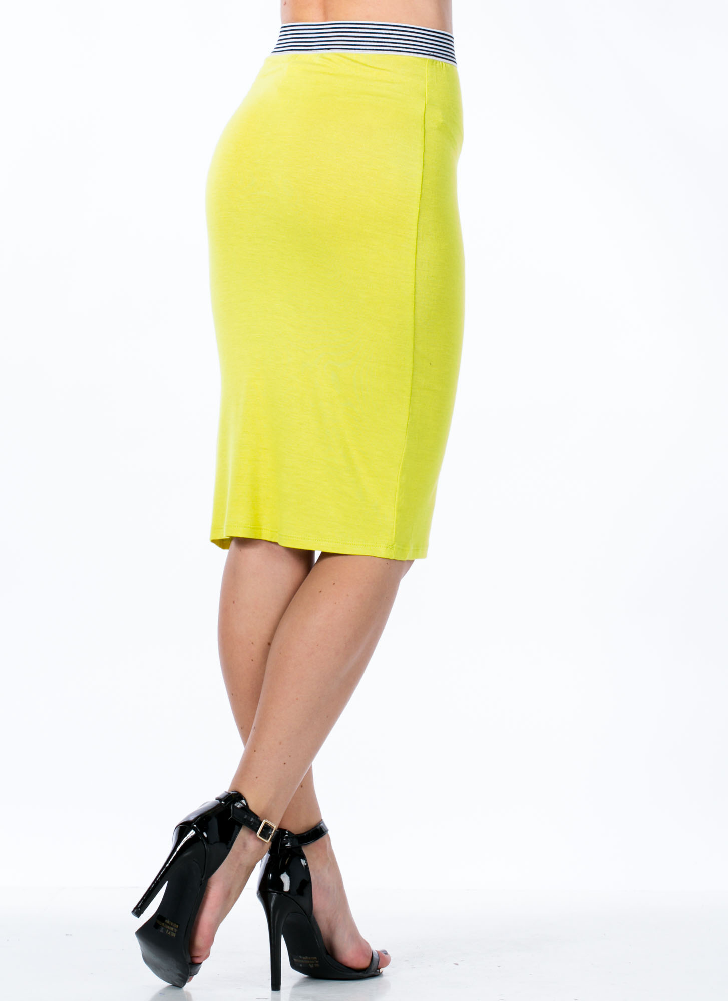 Not Just For Sport Pencil Skirt CITRON