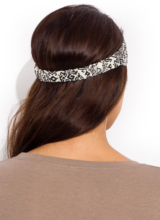 Pixelated Tribal Headband BLACKBEIGE