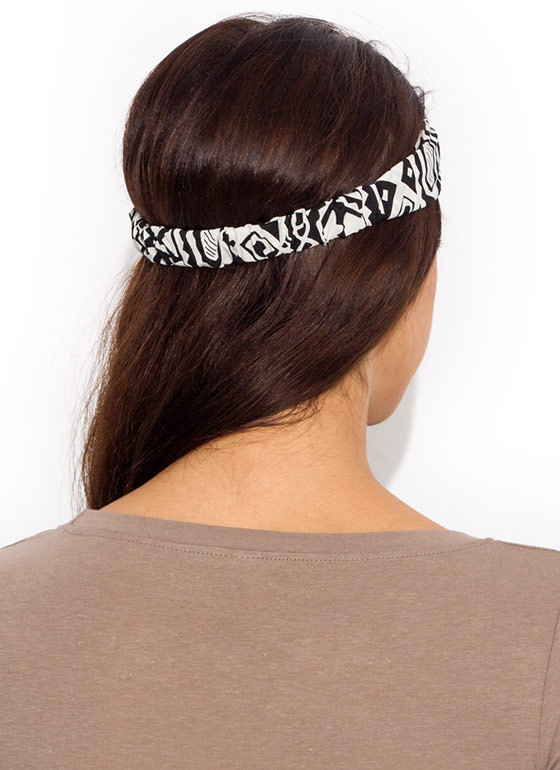 Tribal Times Headband WHITEBLACK