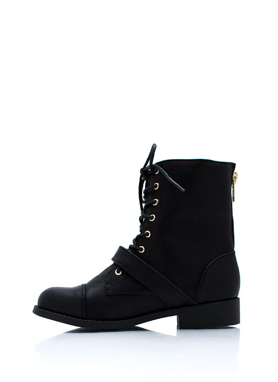 Zip It Good Combat Boots BLACK