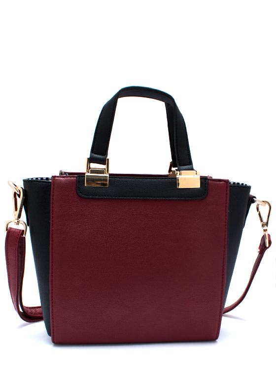 Panel Has Spoken Contrast Handbag DKRED