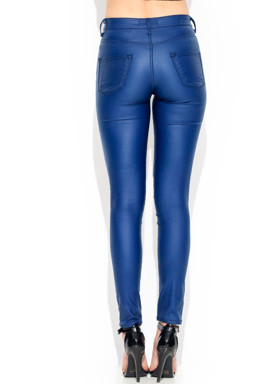 Coated High Waisted Jeans ROYAL