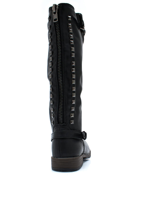 Be There Be Square Studded Boots BLACK