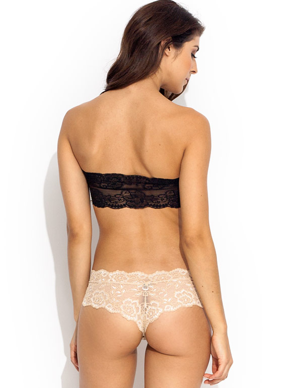 Lace Cheeky Panties NUDE
