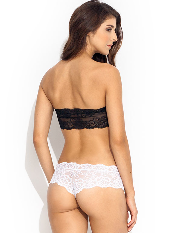 Lace Cheeky Panties WHITE
