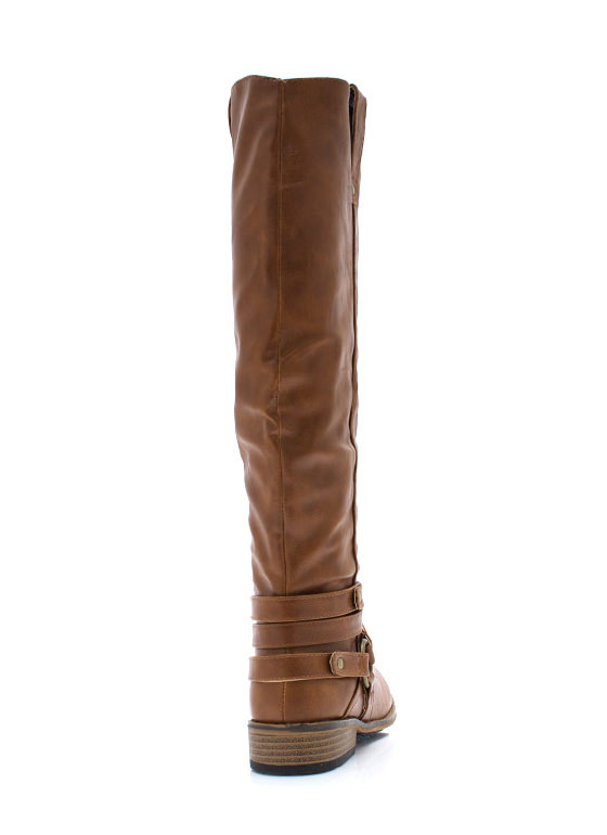 Wraparound Harness Riding Boots CHESTNUT