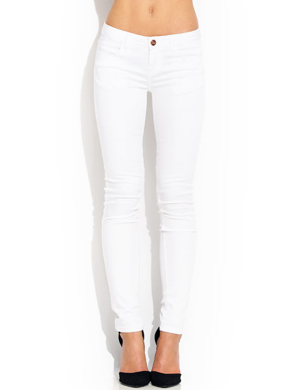 Get Jegging Wit It Skinny Pants WHITE