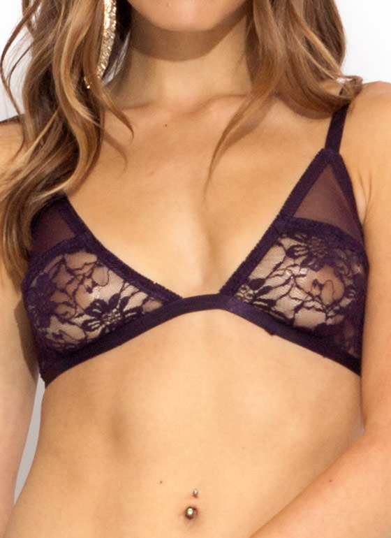 Touch Base Lace Bralette GRAPE