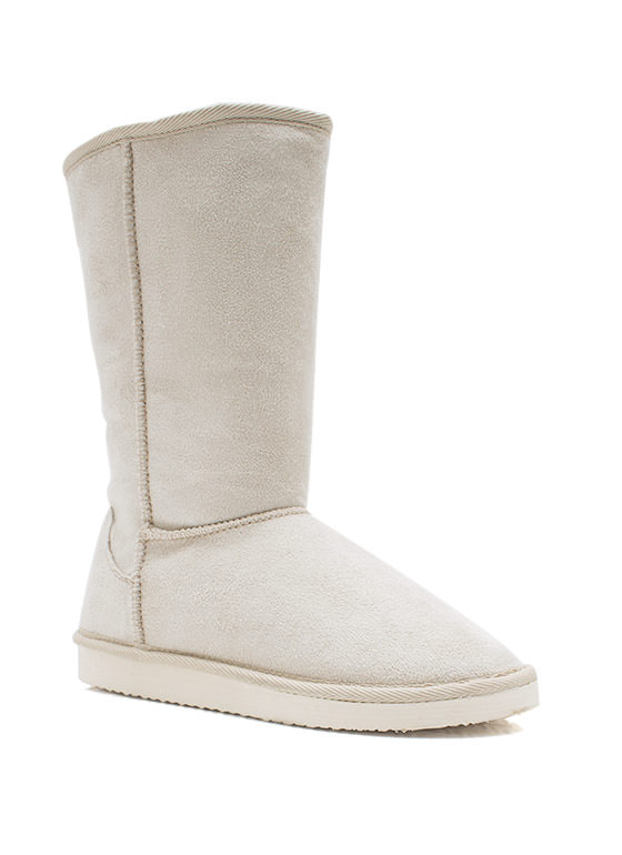 Cozy Faux Suede Boots ICE
