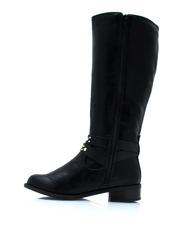 Studly Harness Riding Boots BLACK