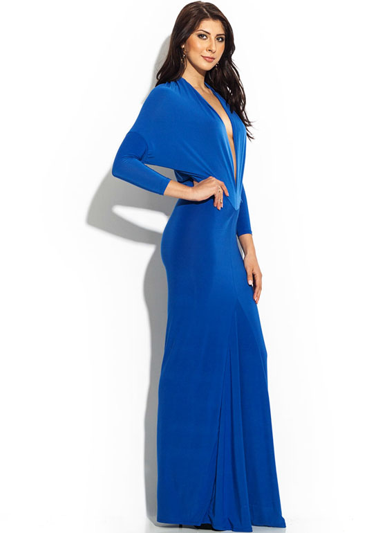 Draped Crusader Reversible Maxi ROYAL