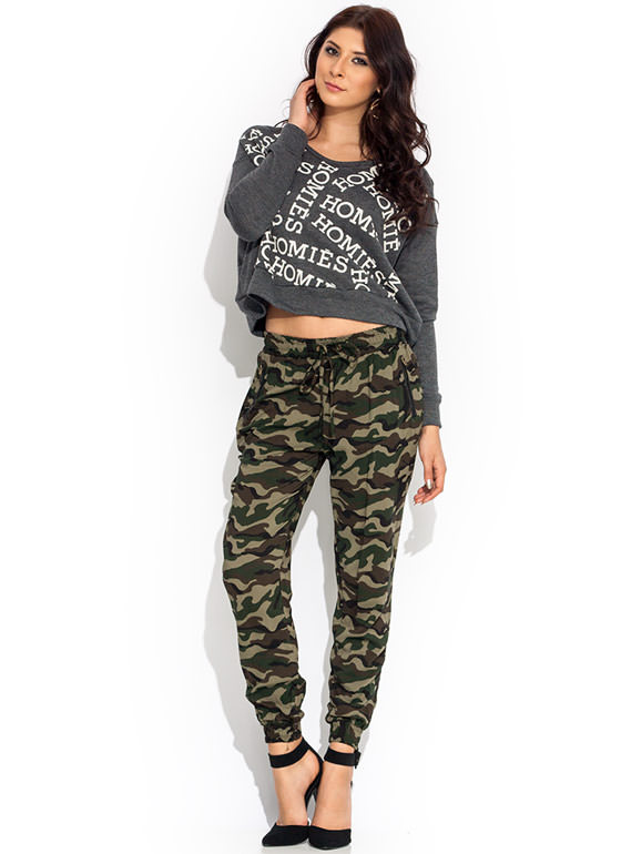 Hide And Seek Camo Joggers OLIVEBROWN
