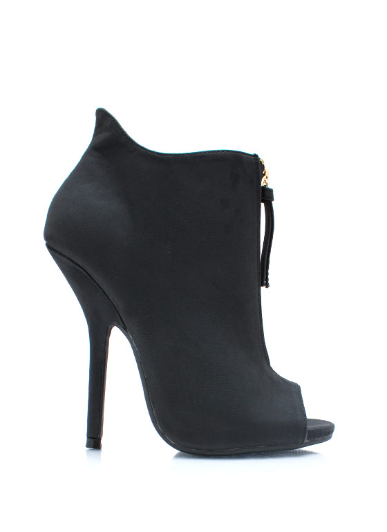 Under Cover Zippered Booties BLACK