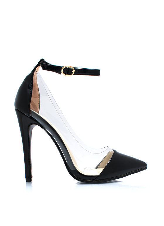 Clear The Way Pointy Pumps BLACK