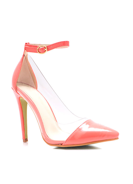 Clear The Way Pointy Pumps CORAL