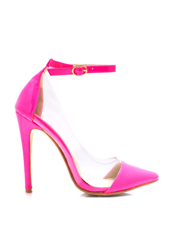 Clear The Way Pointy Pumps PINK