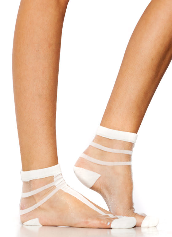 What A Mesh Socks WHITE