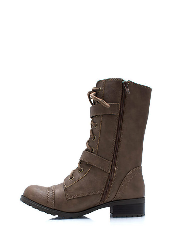 Mess Hall Double Buckle Boots TAN