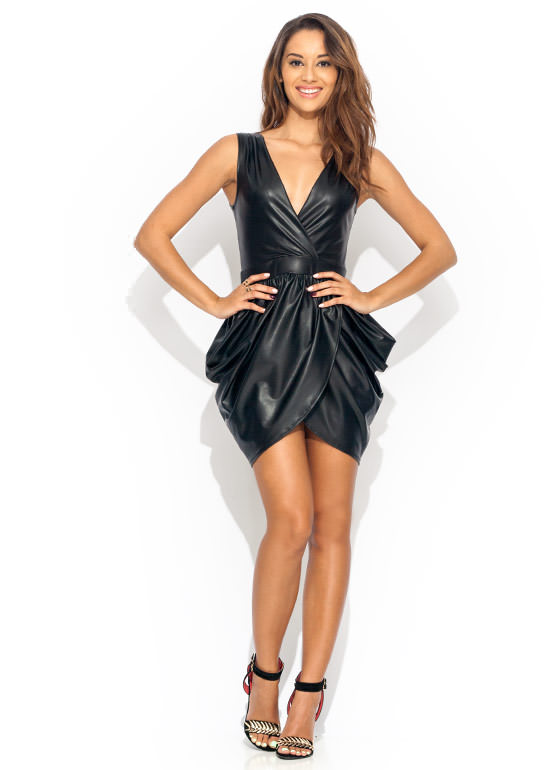 Its A Wrap Mini Dress BLACK