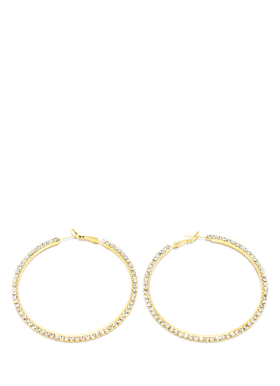 Jewel Belt Hoop Earrings GOLD