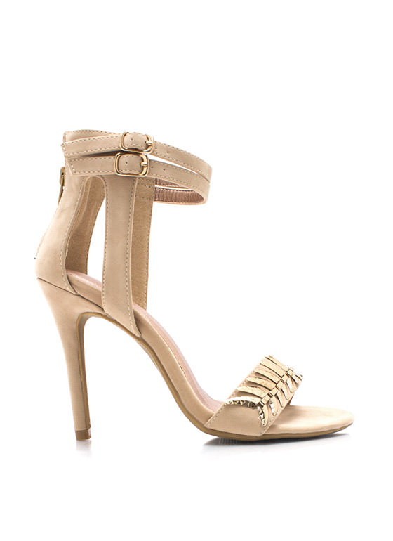 Tusk To Dawn Ankle Strap Heels NUDE