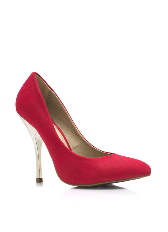 Cool Your Heels Accent Pumps RED