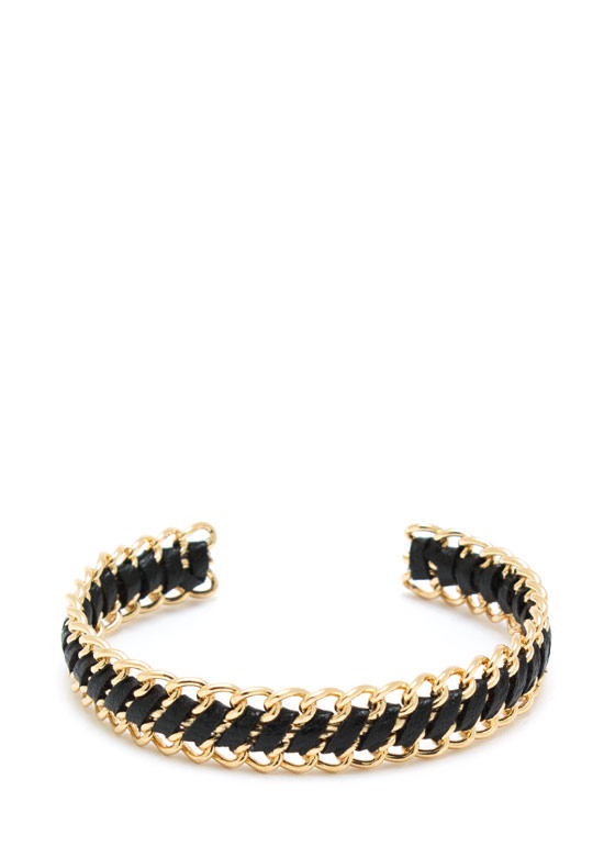 Chain Ged 2Gether Bracelet GOLDBLACK