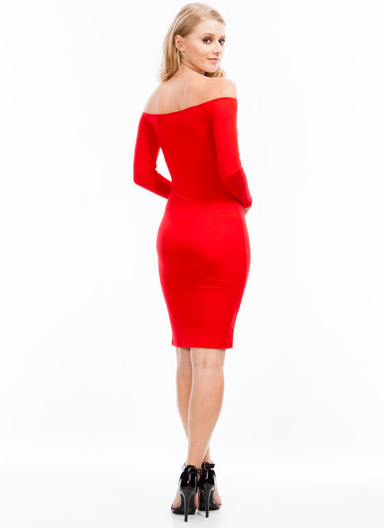 Keep It Simple Dress RED