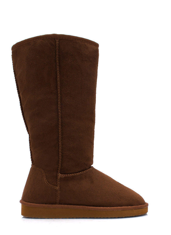 High Time Faux Shearling Boots DKCAMEL