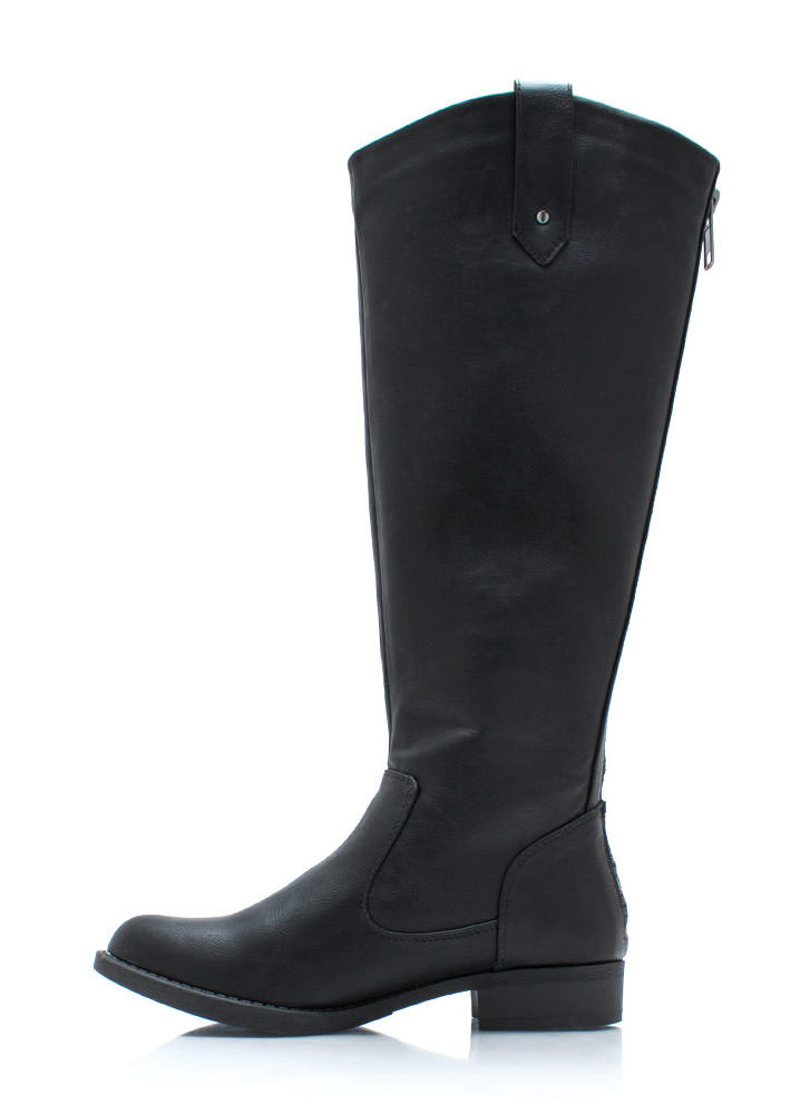 Tall For One Zip Back Boots BLACK