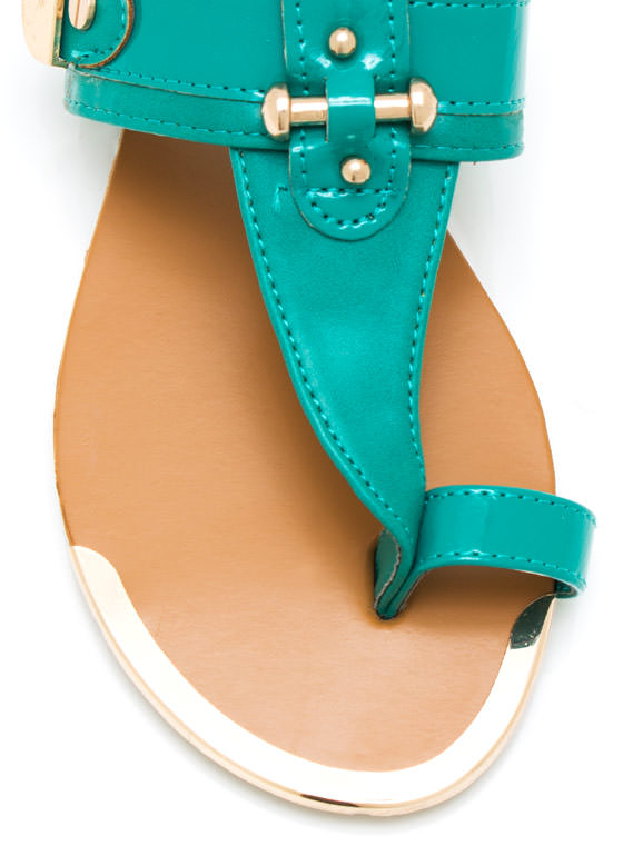 Hardware Thong Sandals GREEN