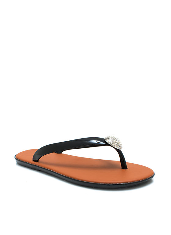 Domesday Jelly Thong Sandals BLACK