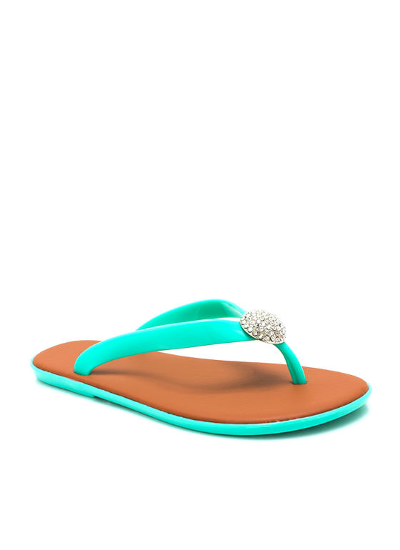 Domesday Jelly Thong Sandals SEAFOAM