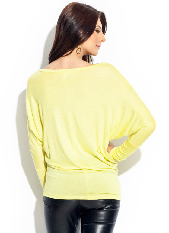 Arm Bandy Dolman Tunic Top CELERY
