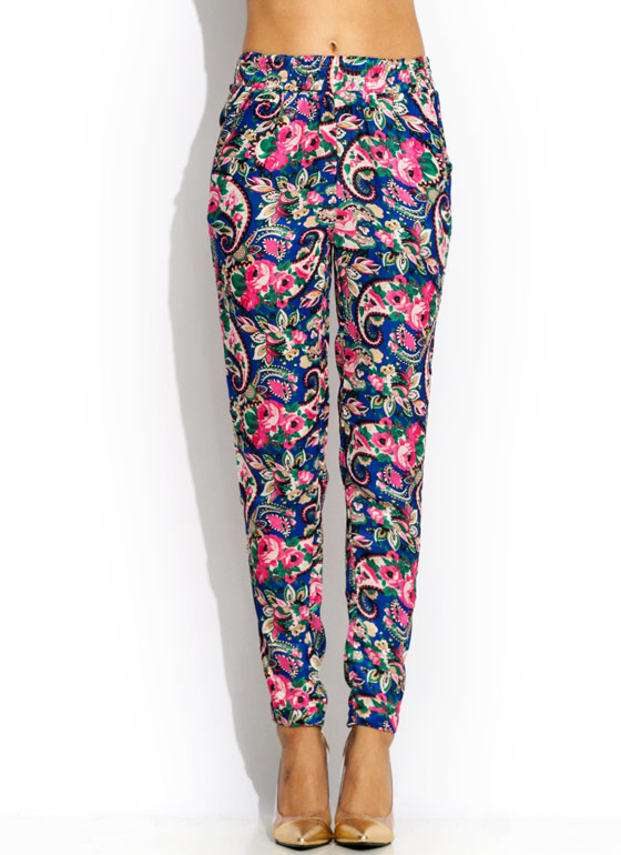 Paisley Power Lounge Pants BLUEPINK