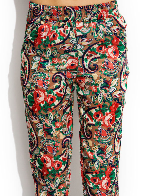 Paisley Power Lounge Pants CAMELBLUE